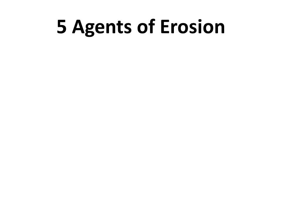 5 Agents of Erosion