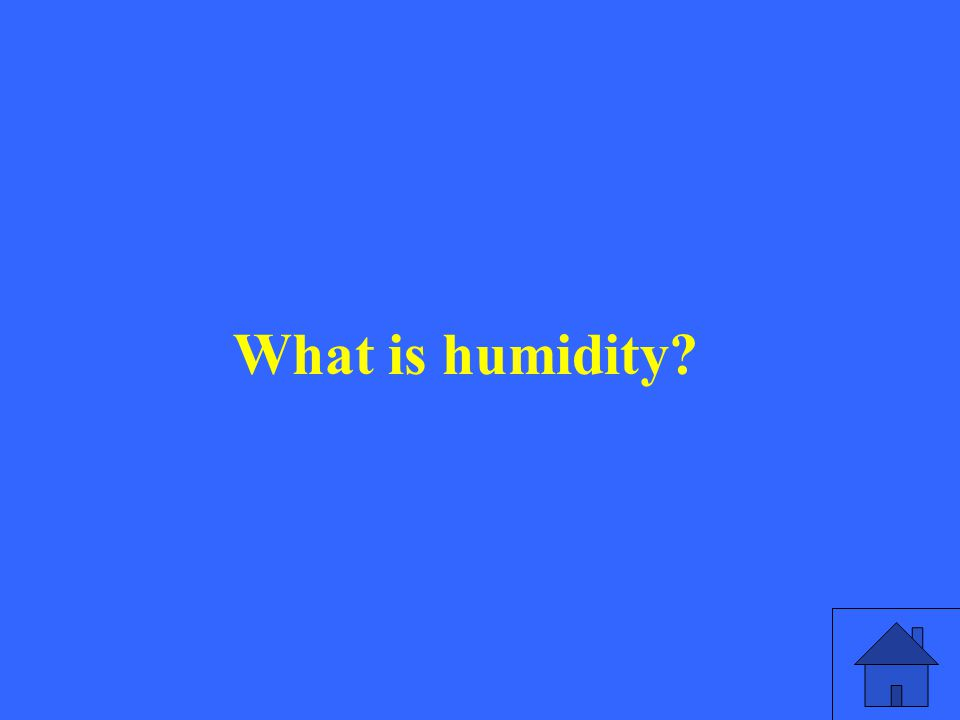 What is humidity