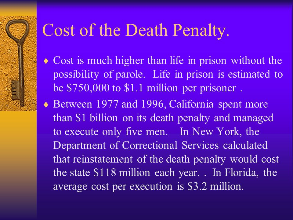Cost of the Death Penalty.