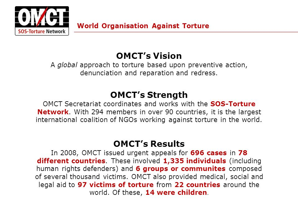 The Economic, Social and Cultural Root Causes of Torture How are torture and other forms of violence related to economic, social and cultural rights.