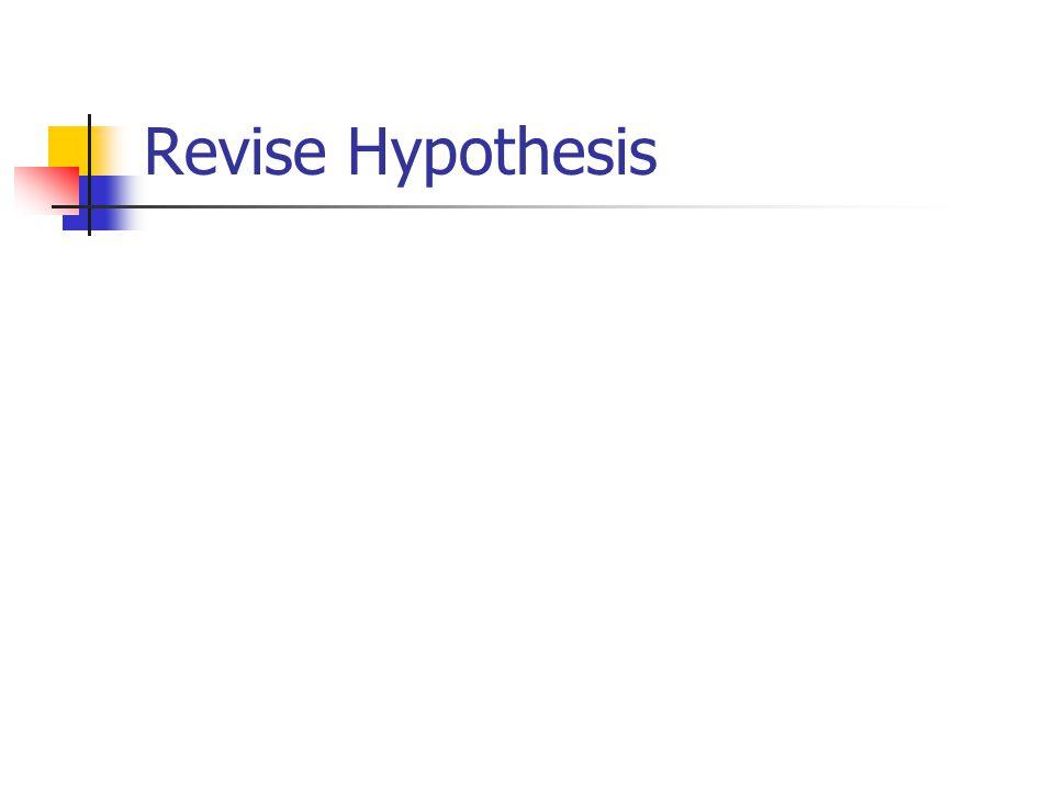 Revise Hypothesis