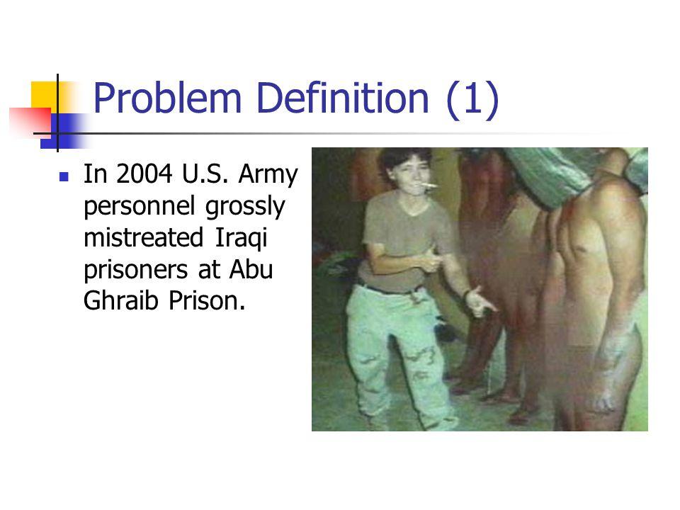 Problem Definition (1) In 2004 U.S.