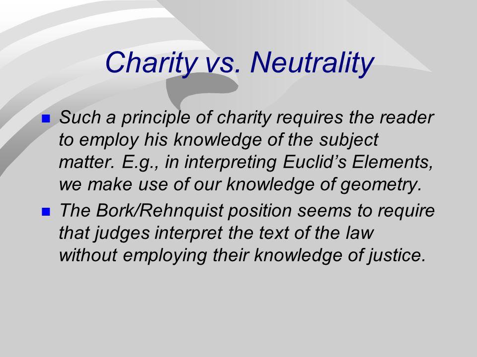 Charity vs.