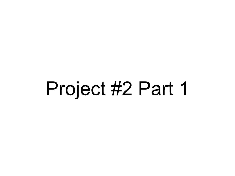 Project #2 Part 1
