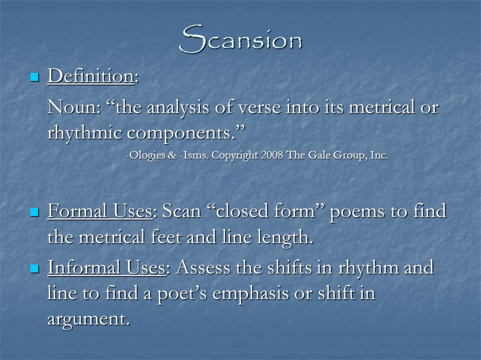 Scansion—Difficulty with The Flea In the Poetry Handbook, John Lennard, writing about scansion and meter in The Flea, claims that, despite the overall use of alternating iambic tetrameter and pentameter, John Donne's argument...