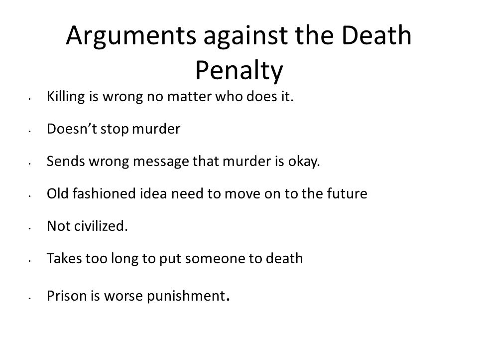 Essays Against Death Penalty