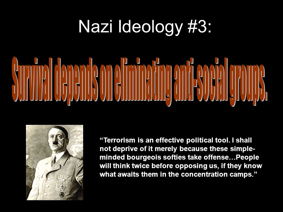 Nazi Ideology #3: Terrorism is an effective political tool.