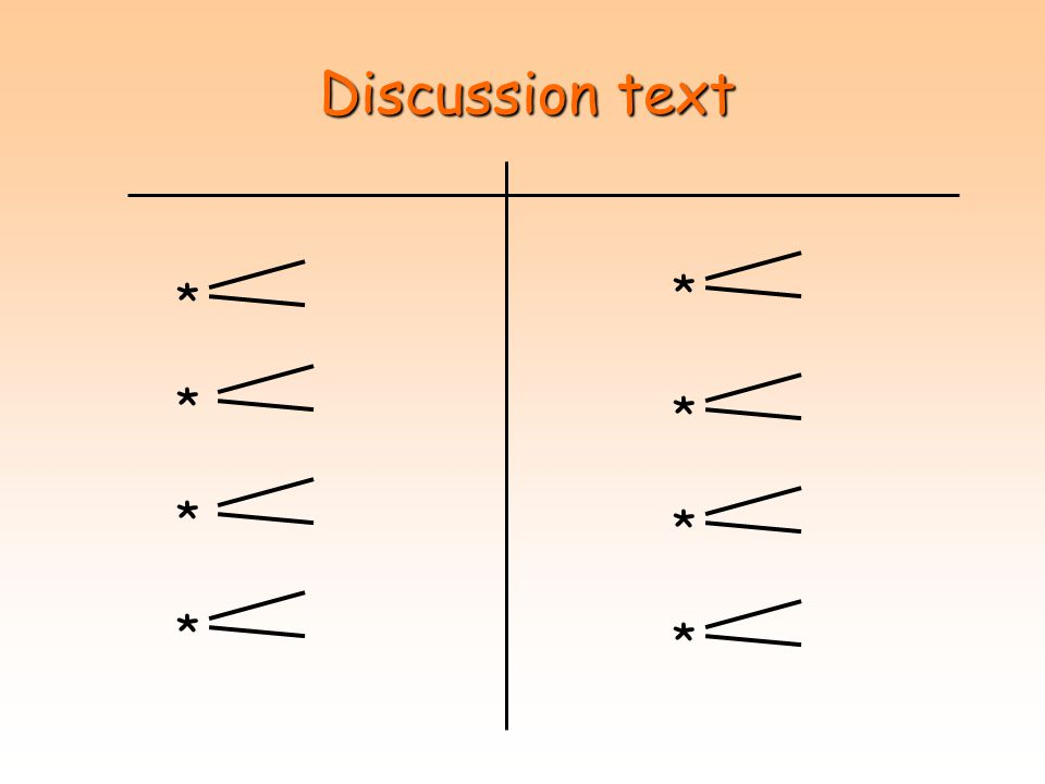 Discussion text * * * * * * * *