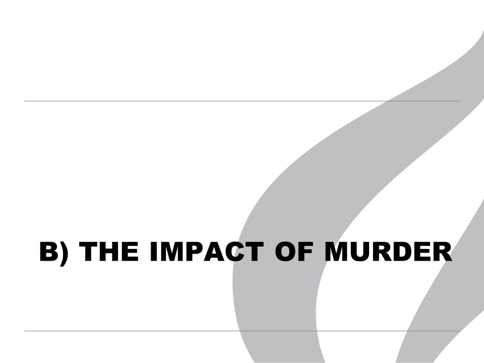 B) THE IMPACT OF MURDER