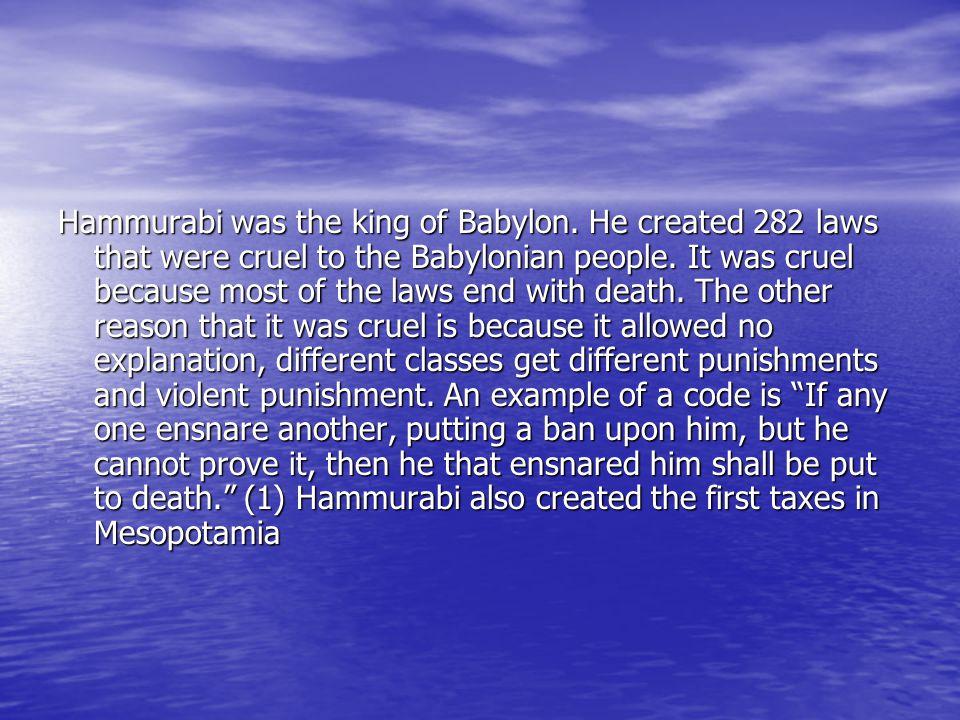 H Jerome Burton H Jerome Burton Hammurabi's Code