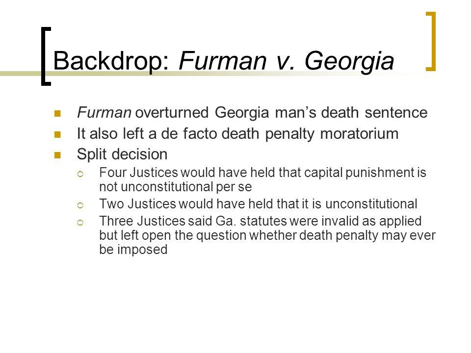 Backdrop: Furman v.