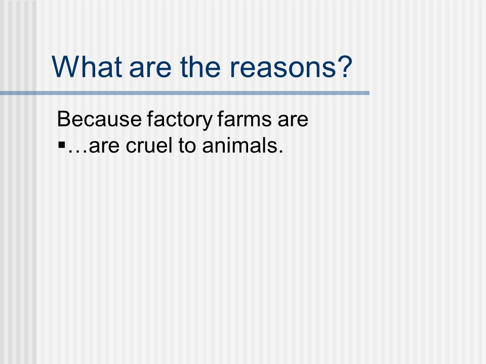 What are the reasons Why does The Meatrix say we should not support factory farming
