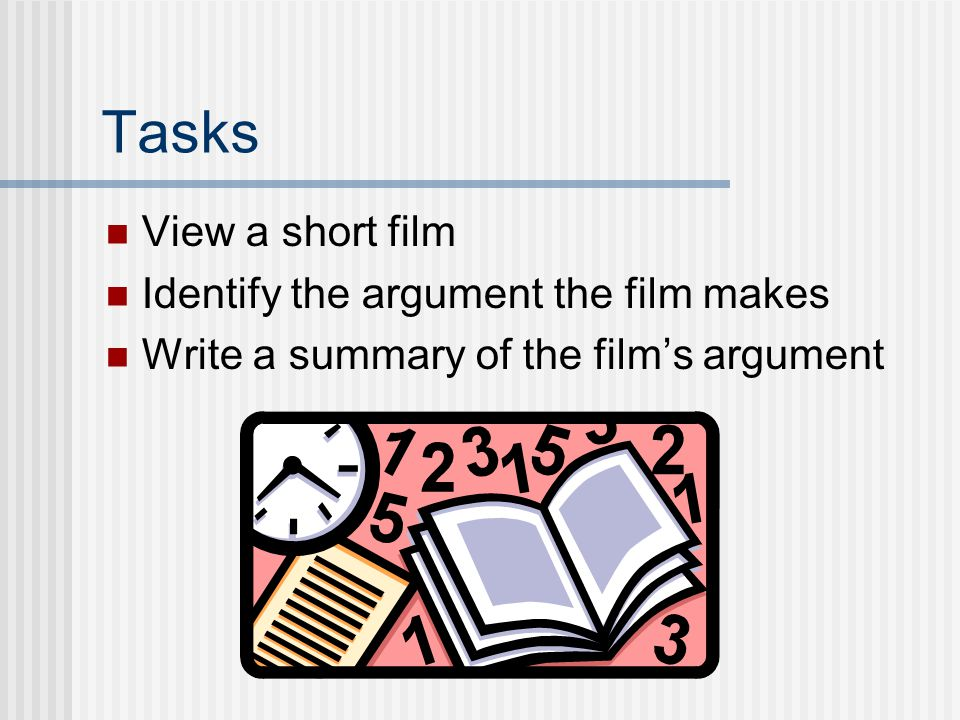 Goals Upon finishing this lesson, you will be able to  Identify the key features of the argument in a text: claim and reasons.