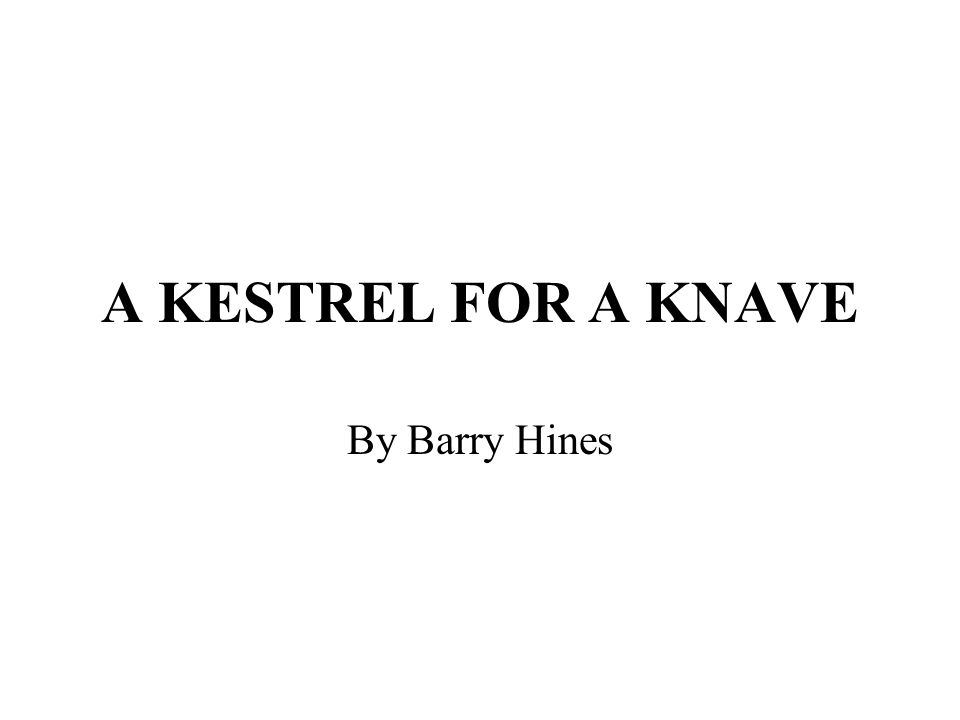 A KESTREL FOR A KNAVE Introduction; Stylistic features: Key messages Key characters: Billy, Jud, Mrs Casper, Mr Gryce, Mr Sugden, Mr Farthing Key incidents: the opening, assembly, the games lesson, flying Kes, death of Kes.