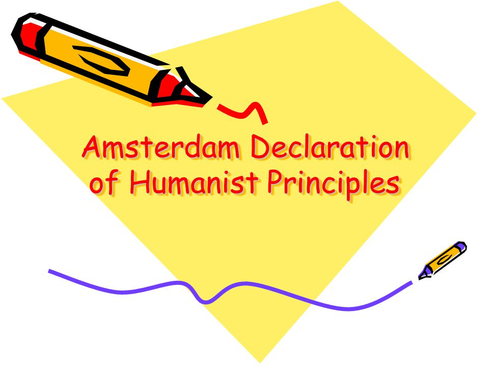 Amsterdam Declaration of Humanist Principles