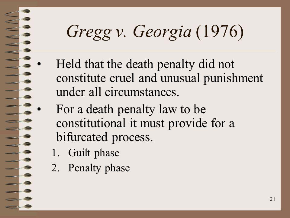 21 Gregg v.