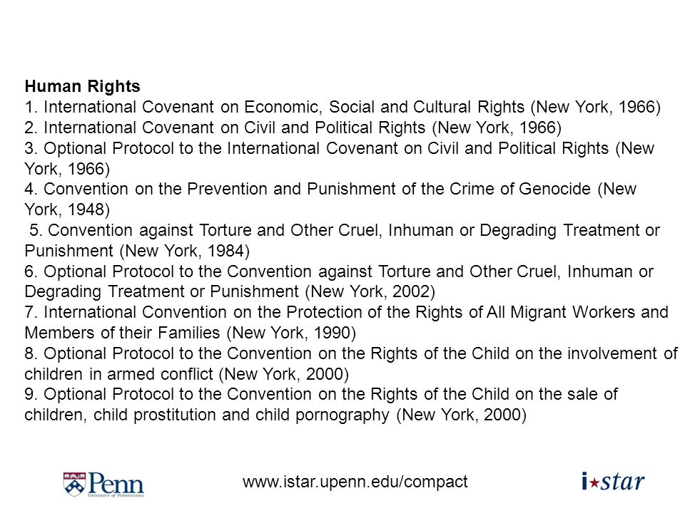 www.istar.upenn.edu/compact Human Rights 1.