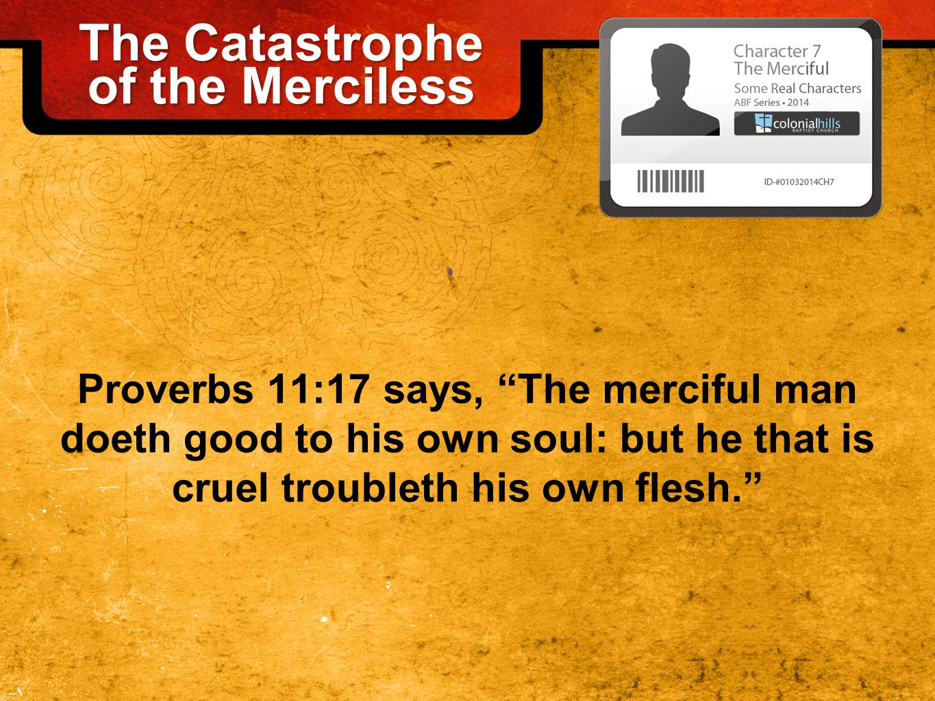 How Can a Person be Merciful.1.By diligently reading and applying God's Word (Prov.