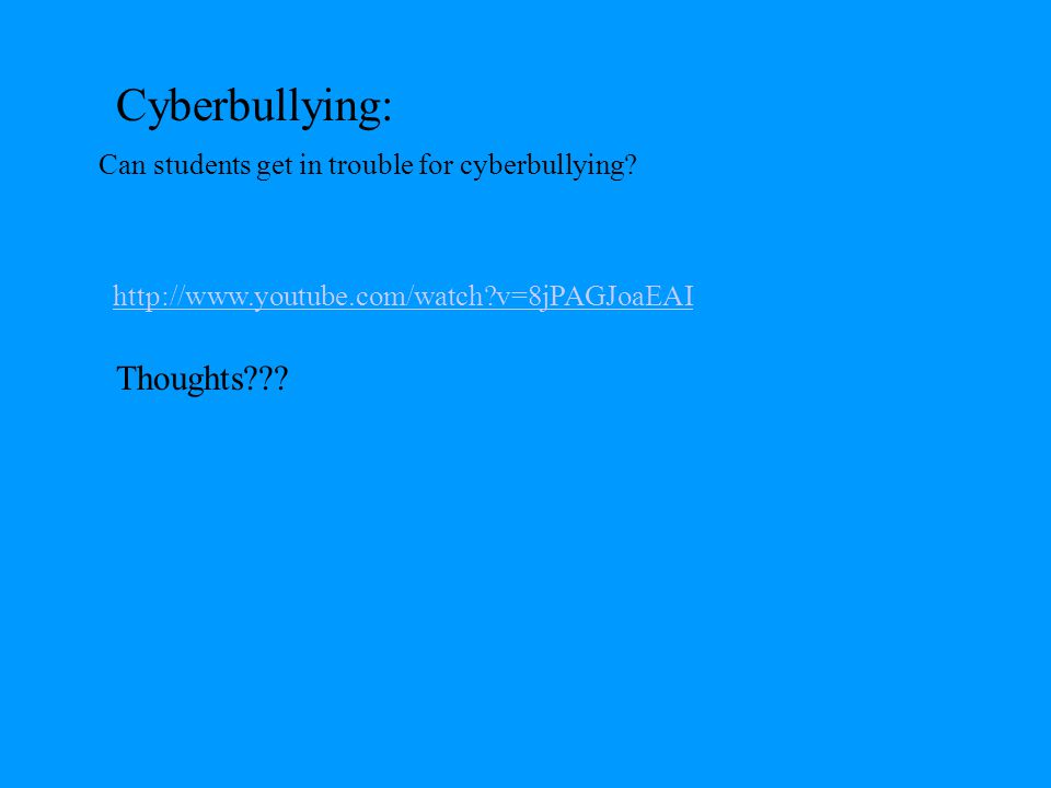 CYBER BULLYING TYPES Impersonation : Pretending to be someone else and sending or posting material online that makes that person look bad, gets that person in trouble or danger, or damages that person's reputation or friendships Outing and Trickery : Sharing someone's secret or embarrassing information online.