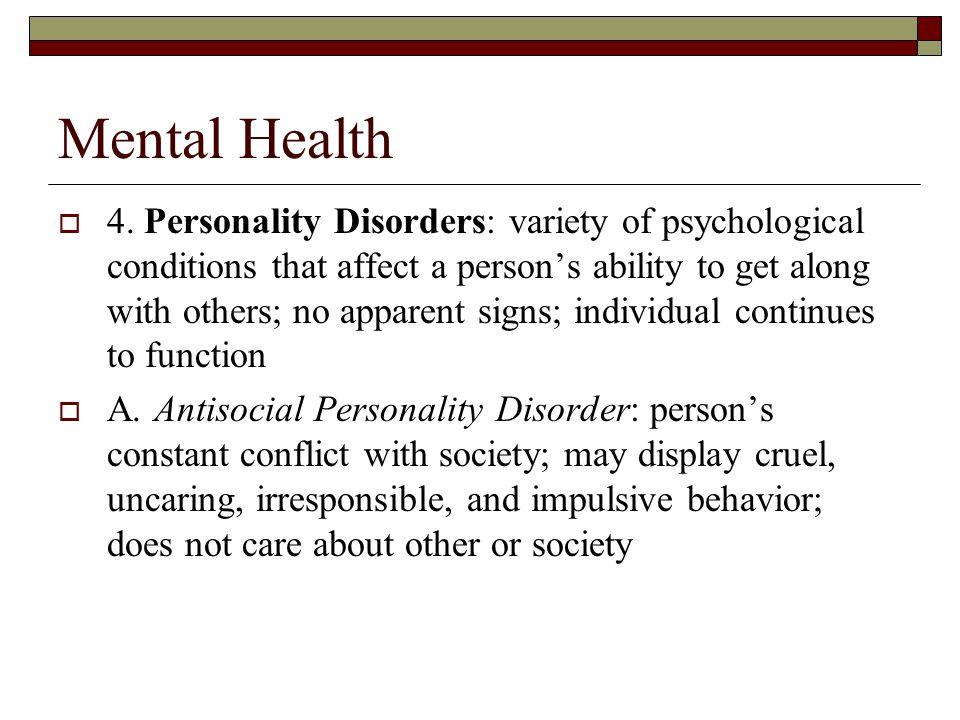 Mental Health  4.