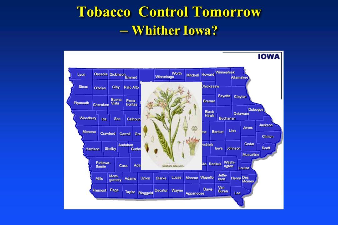 Tobacco Control Tomorrow – Whither Iowa?