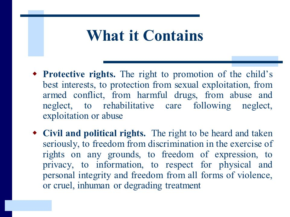 What it Contains  Protective rights.