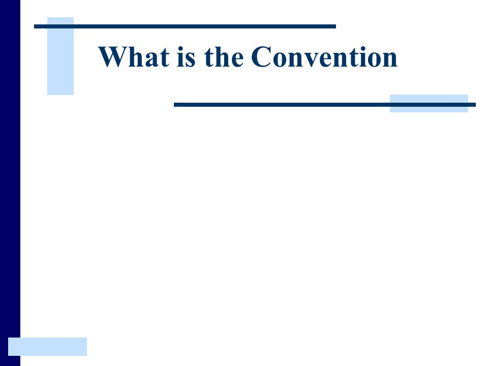 What is the Convention