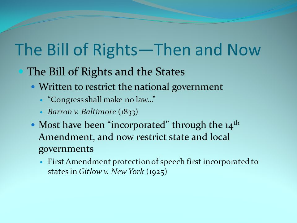 8th Amendment Continued  Protects against cruel and unusual punishment.