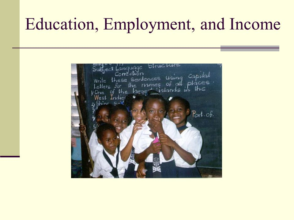 Education, Employment, and Income