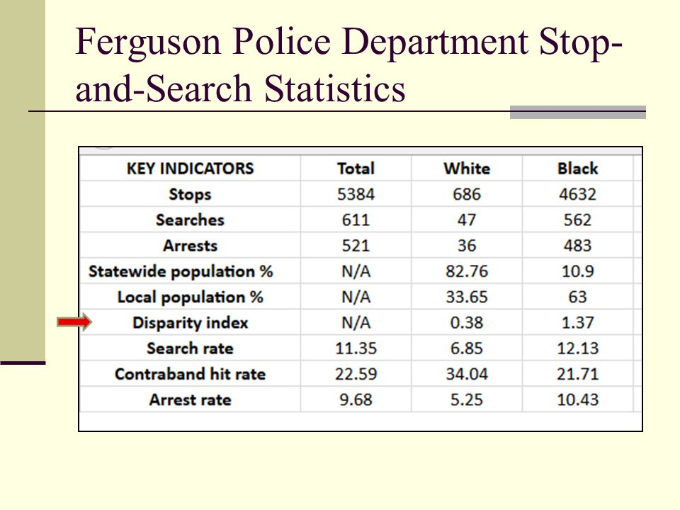 Ferguson Police Department Stop- and-Search Statistics