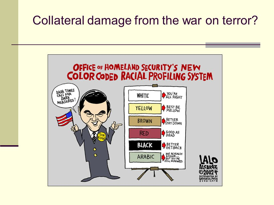 Collateral damage from the war on terror?