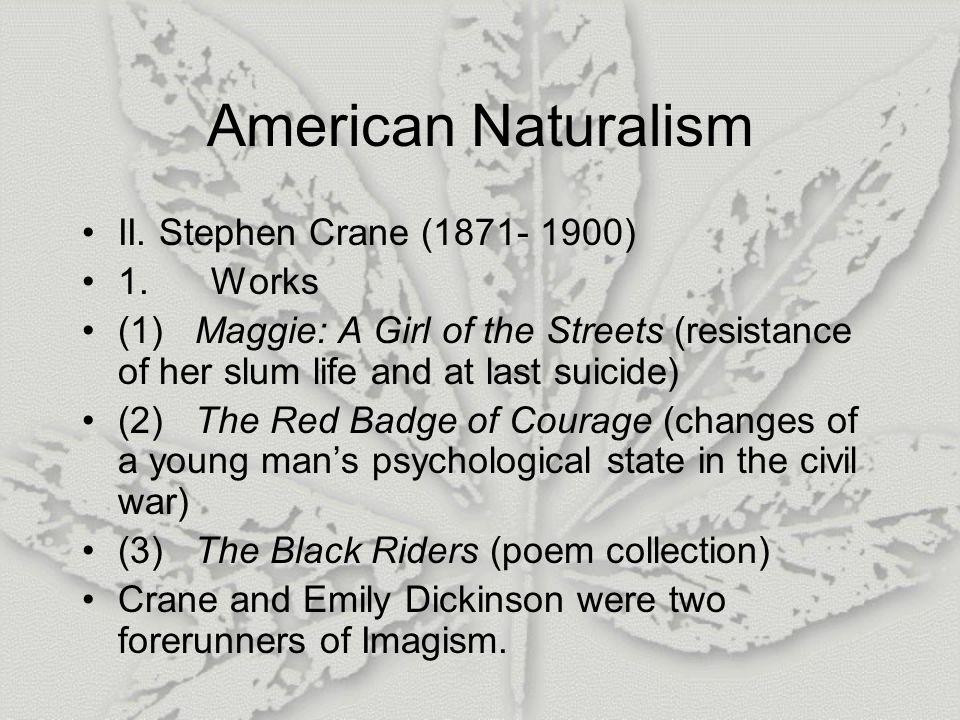 American Naturalism II.Stephen Crane (1871- 1900) 1.