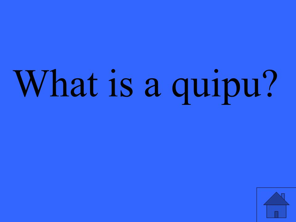What is a quipu