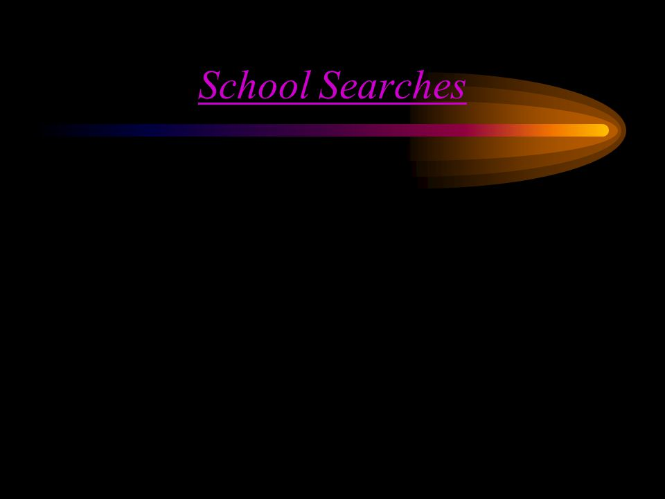 New Jersey v T.L.O. Description (Key Question) –What is necessary for school searches.