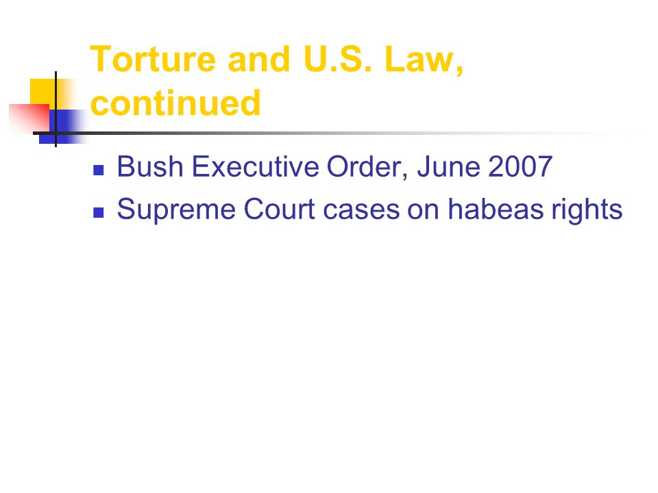 Torture and U.S.