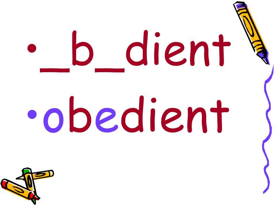 _b_dient obedient