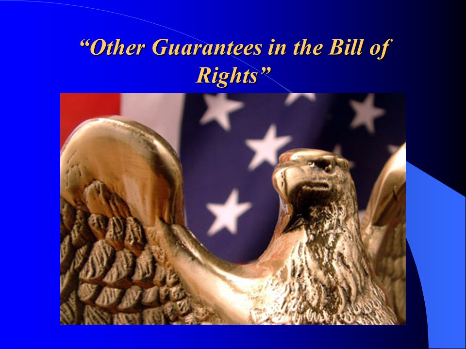 Other Guarantees in the Bill of Rights
