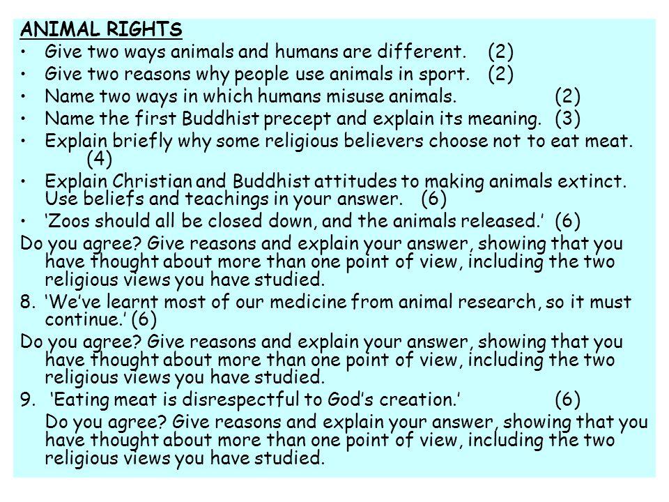 Explain the religious attitudes to making animals extinct.