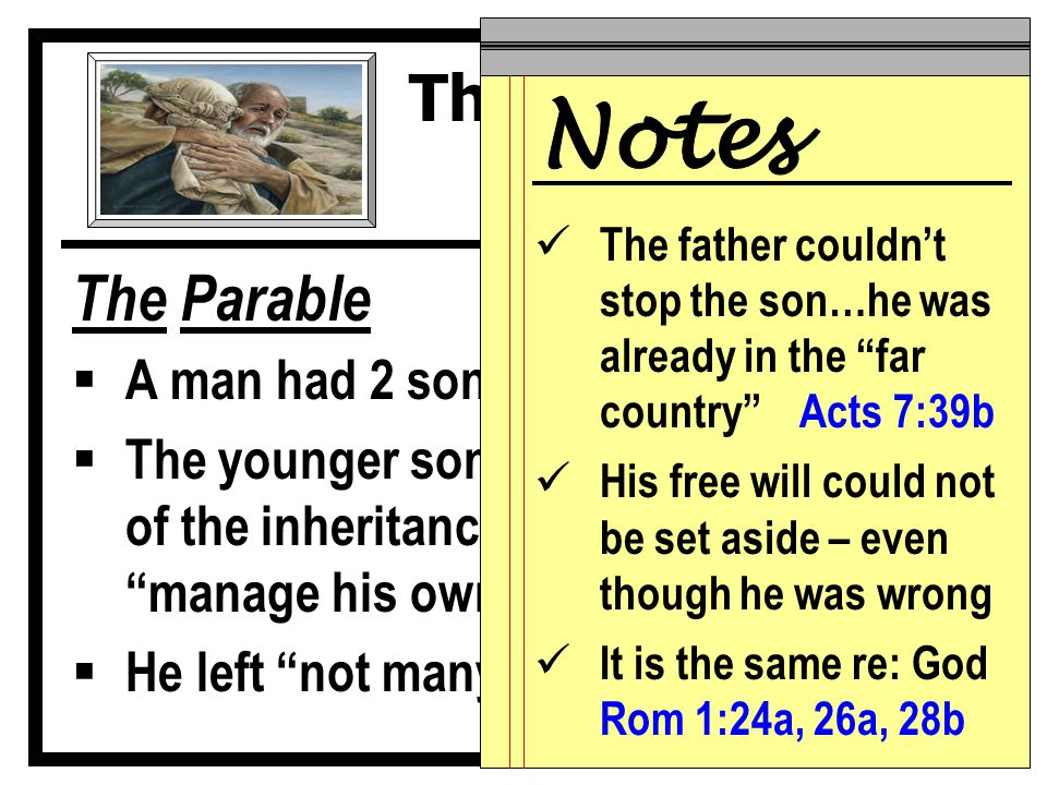 The Parable  What was the only option that made sense.