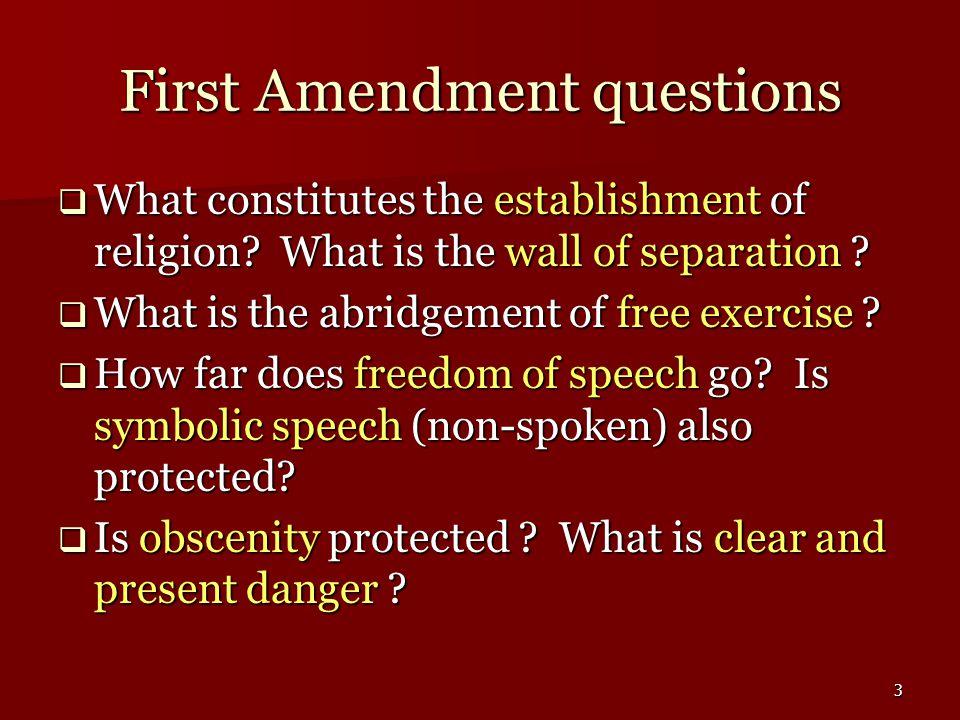 14 Freedom of Speech Non-protected Speech  Bethel v.