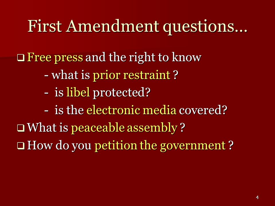 5 First Amendment cases: Religion Establishment Clause  Everson v.