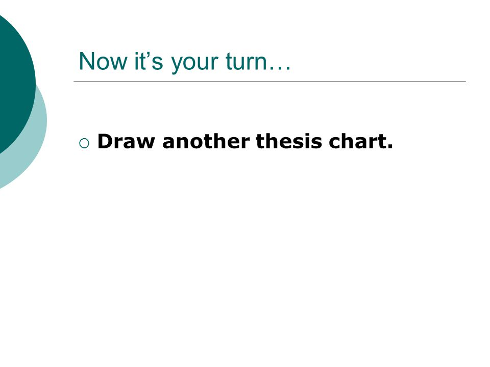 Now it's your turn…  Draw another thesis chart.