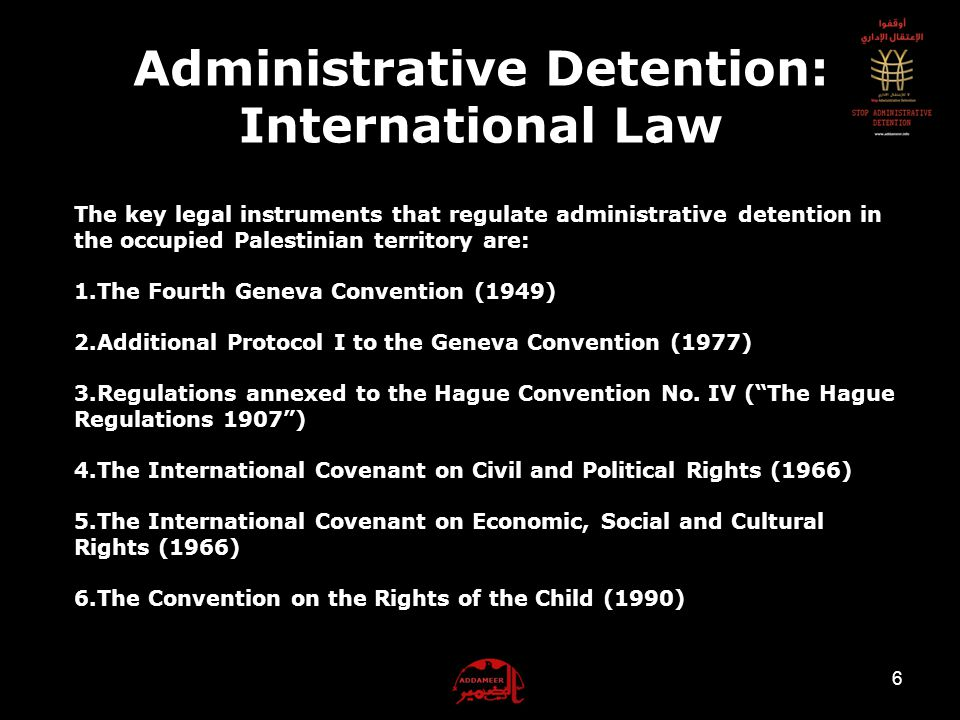 As of February 2012, 5 310 administrative detainees are being held in Israeli prisons and detentions centers, including 1 woman and 24 PLC members.