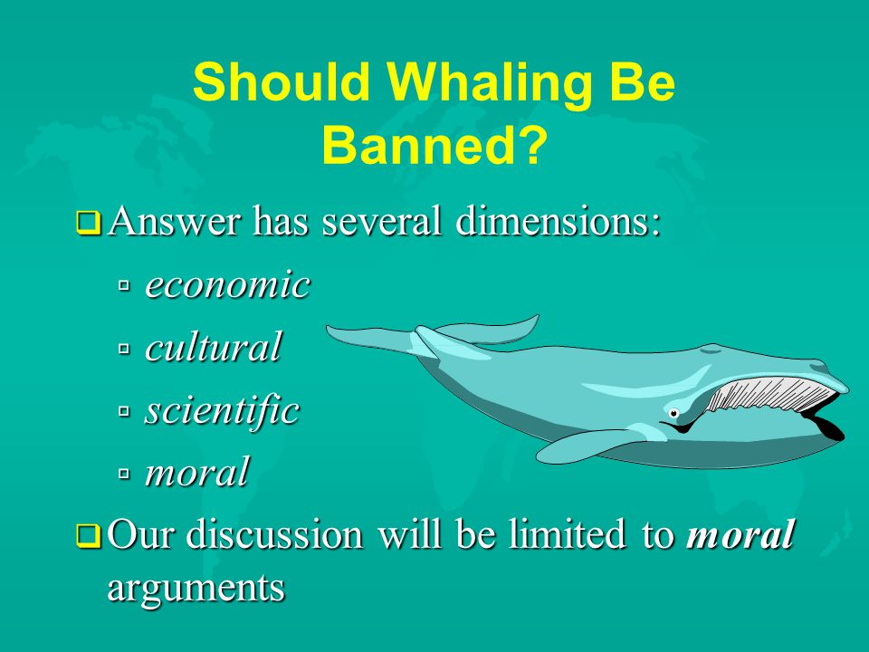 Should Whaling Be Banned.