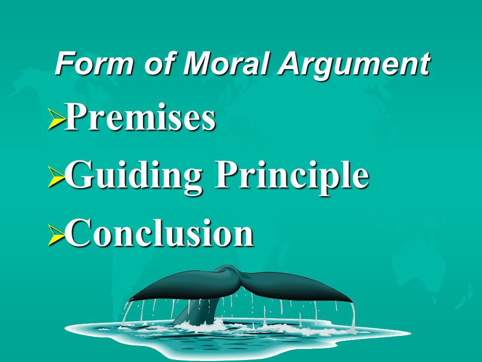 Example Moral Argument  Action x causes pain and suffering to sentient* beings  sentient = capable of feeling pleasure and pain  There are alternatives to action x  It is wrong to cause pain and suffering, unless there is a sufficiently good reason to justify it  Therefore, we should not do action x