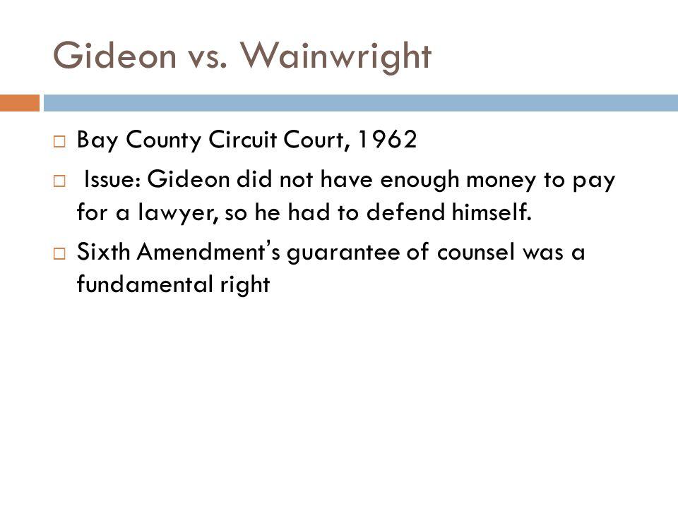 Gideon vs.