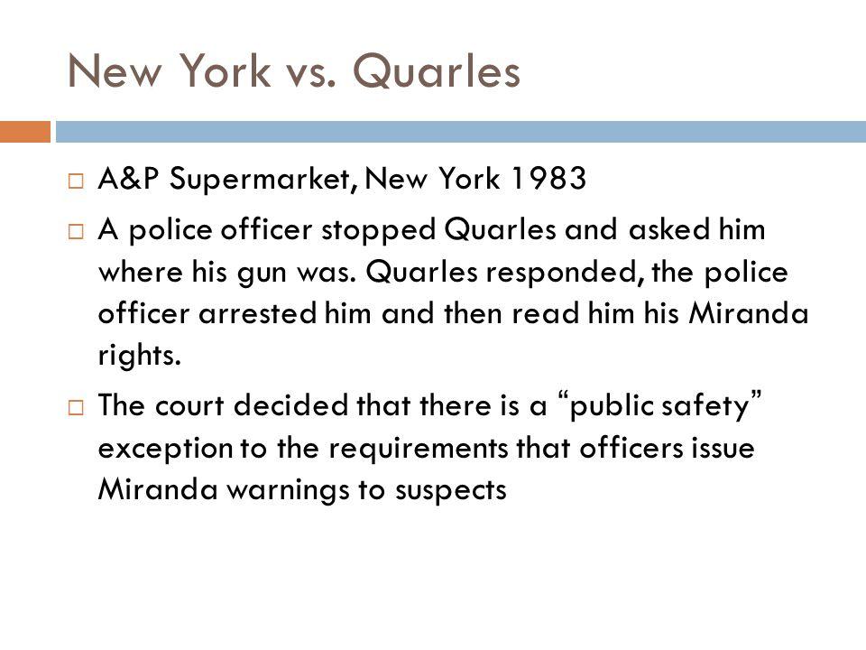 New York vs.