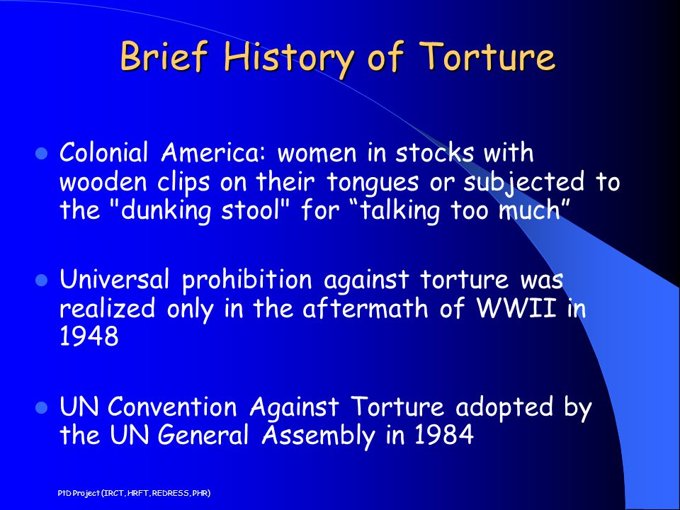 Brief History of Torture Colonial America: women in stocks with wooden clips on their tongues or subjected to the