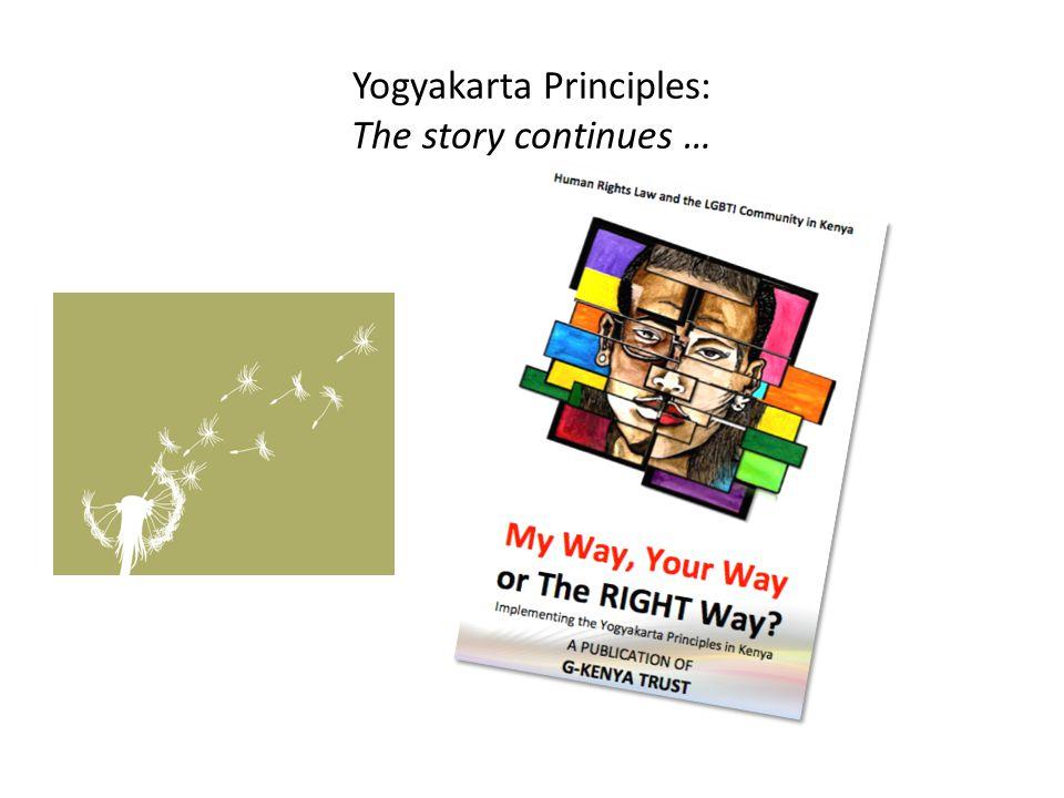 Yogyakarta Principles: The story continues …