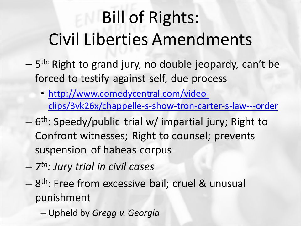 essay prompt for what reasons and in what ways was the united  bill of rights civil liberties amendments 5 th right to grand jury
